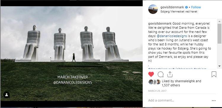 Screenshot of an Instagram post