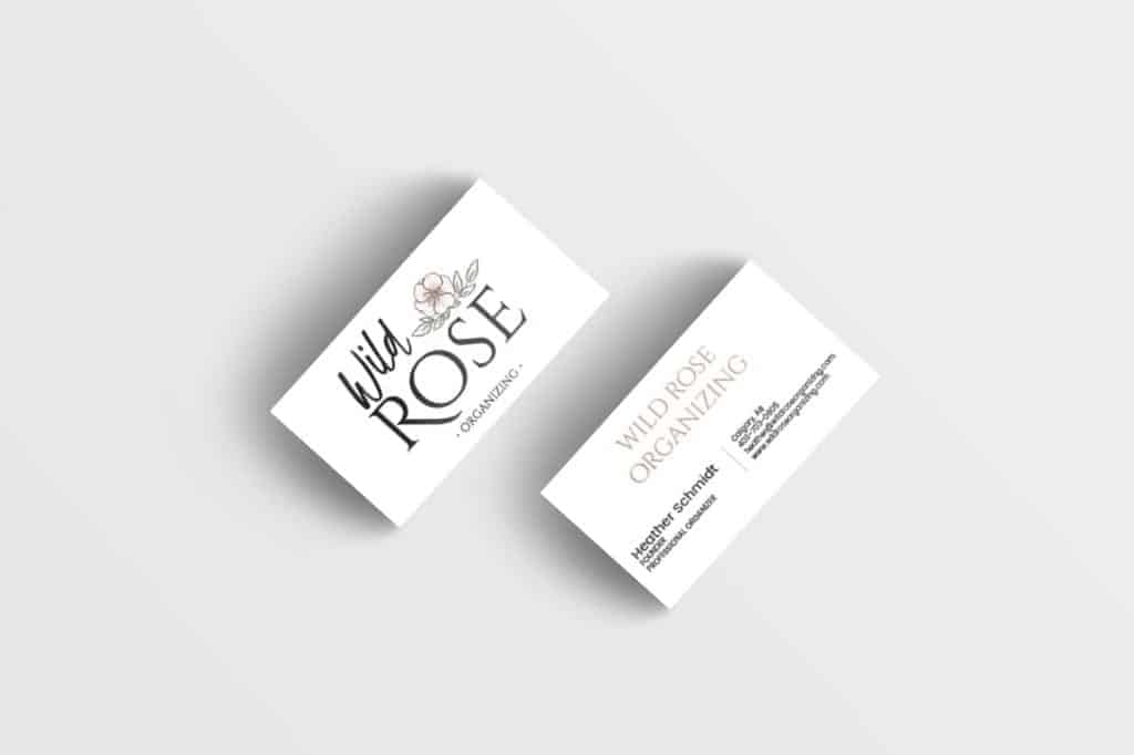 A stack of business cards