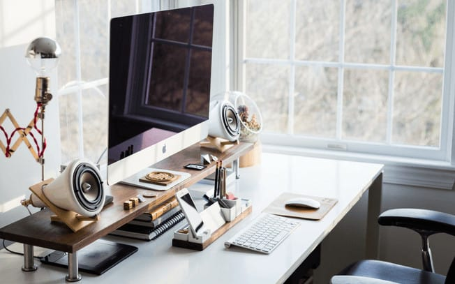 Photo of computer on desk