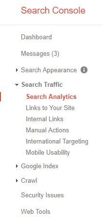 Screenshot of Google Search Console