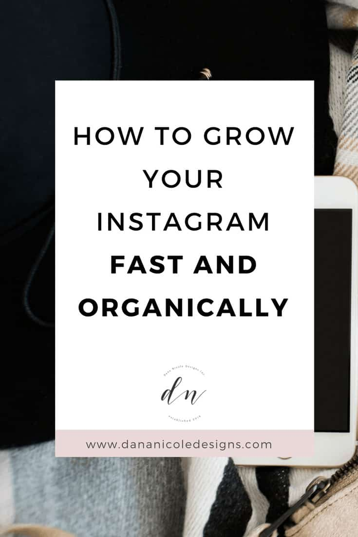image with text overlay: how to grow your instagram fast and organically