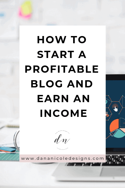 Image with text overlay that says: how to start a profitable blog and earn an income
