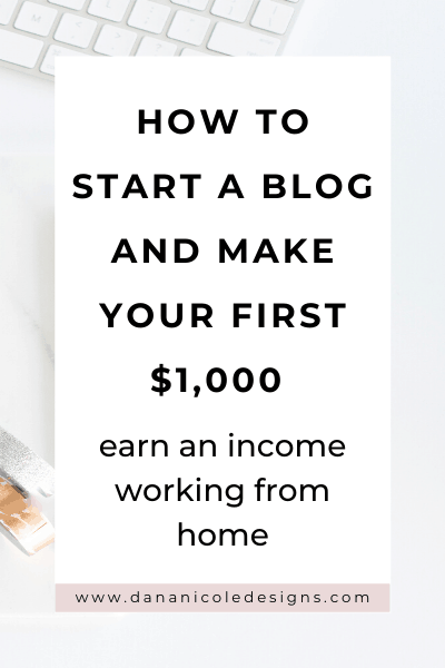image with text overlay: how to start a blog and make your first $1,000