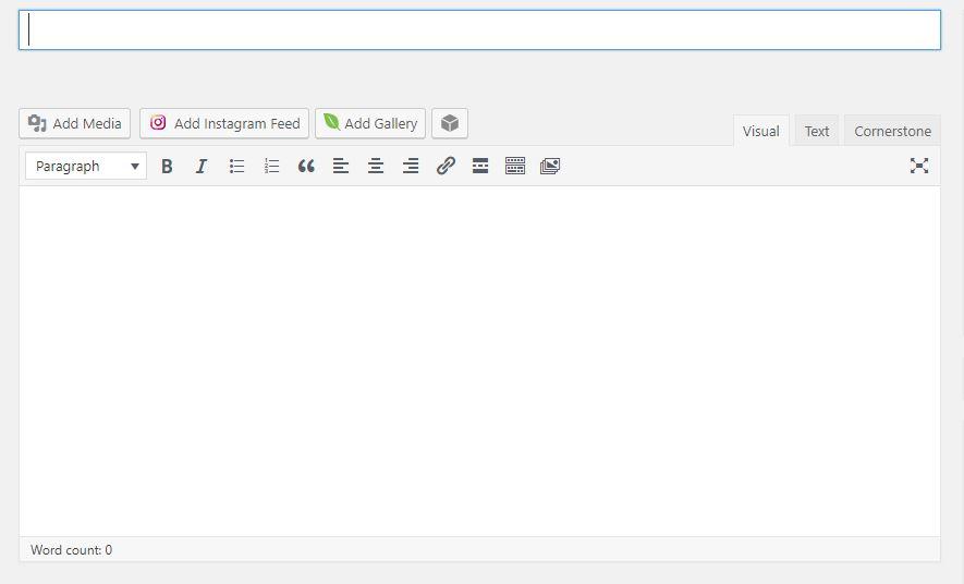Screenshot of posts area on WordPress blogging platform