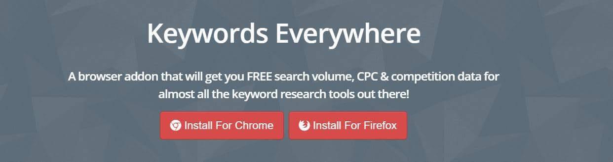 KeyWords Everywhere website screenshot