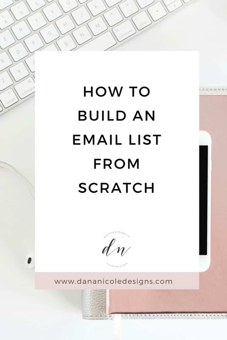 image with text overlay: how to build an email list from scratch