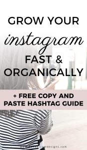 image with text overlay: grow your instagram fast and organically