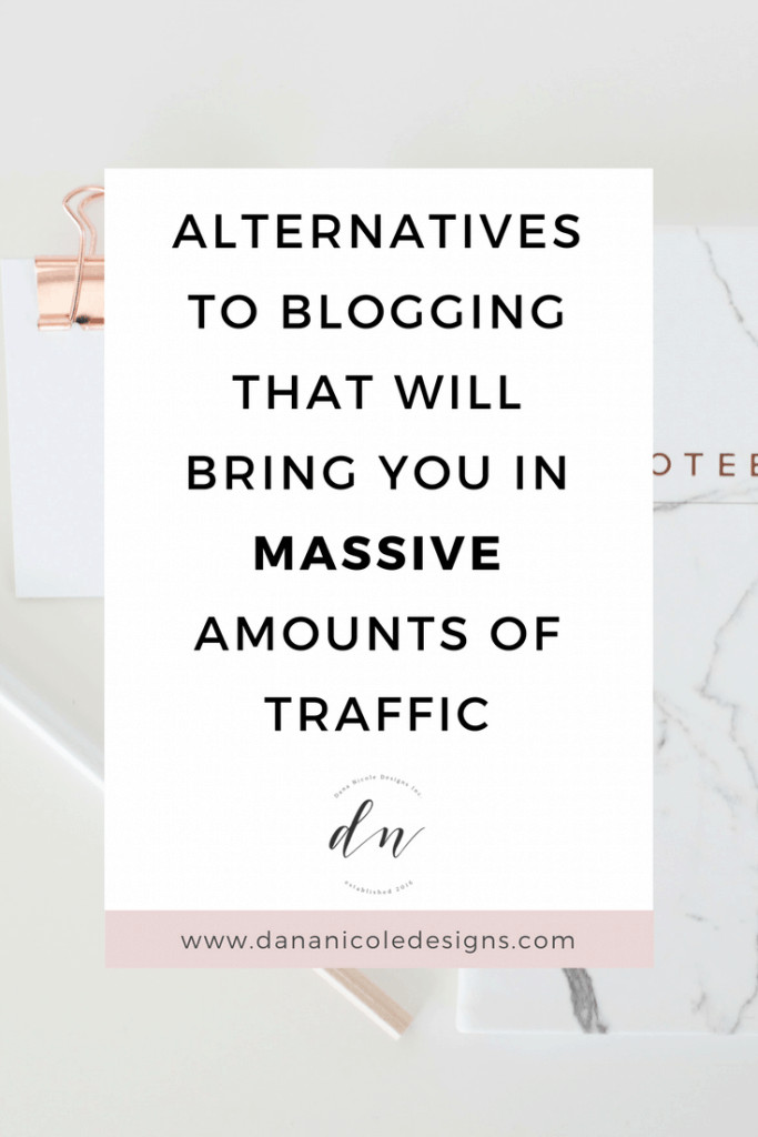 image with text overlay: alternative to blogging that will bring you in massive amounts of traffic