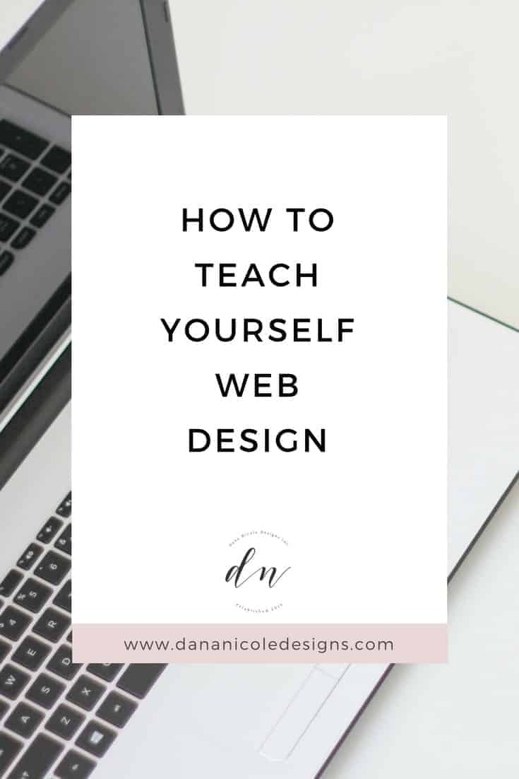 image with text overlay: how to teach yourself web design