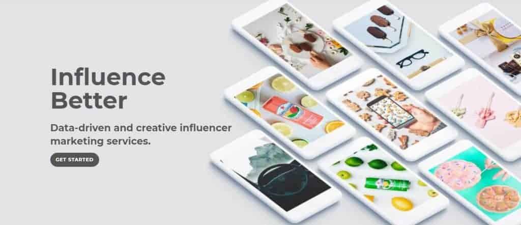 Screenshot of Openinfluence's website