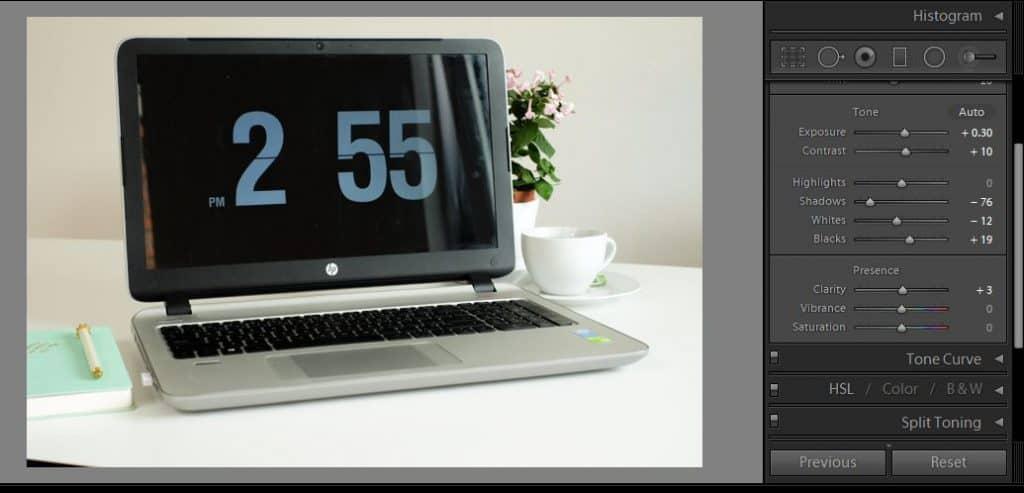 Screenshot of the Adobe Lightroom interface