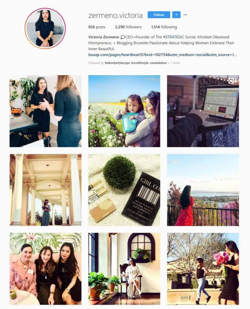 Screenshot of Instagram photos