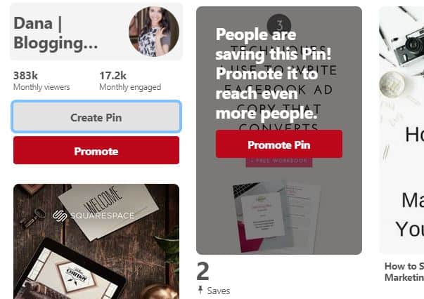 Pinterest screenshot to create a pin