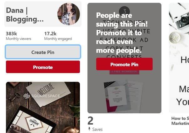 Pinterest screenshot to create a pin
