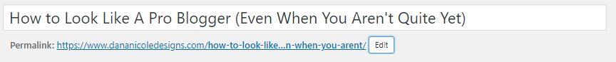 Where to chance the URL slug in WordPress