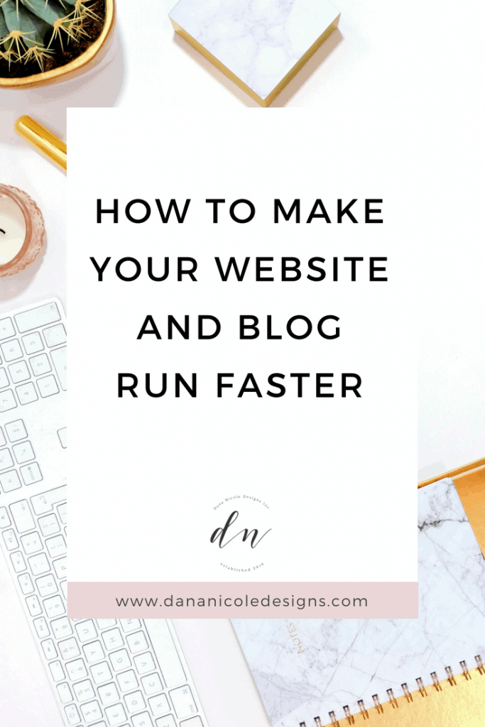 An image with text overlay that says: how to make your website and blog run faster