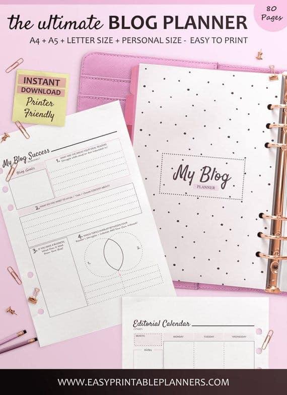 A blog planner