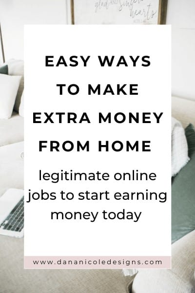 image with text overlay: easy ways to make extra money from home