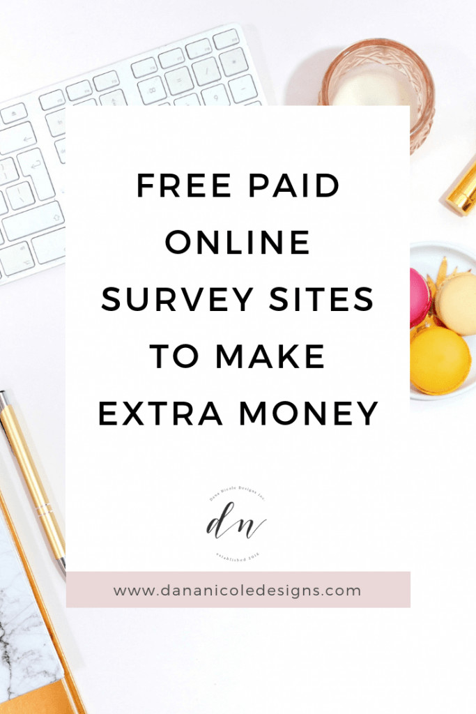 Image with text overlay that says: free paid online survey sites to make extra money