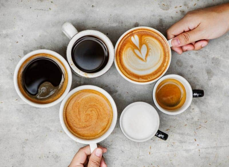 Lattes and coffee