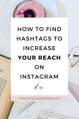 Image with text overlay that says: how to find hashtags to increase your reach on instagram