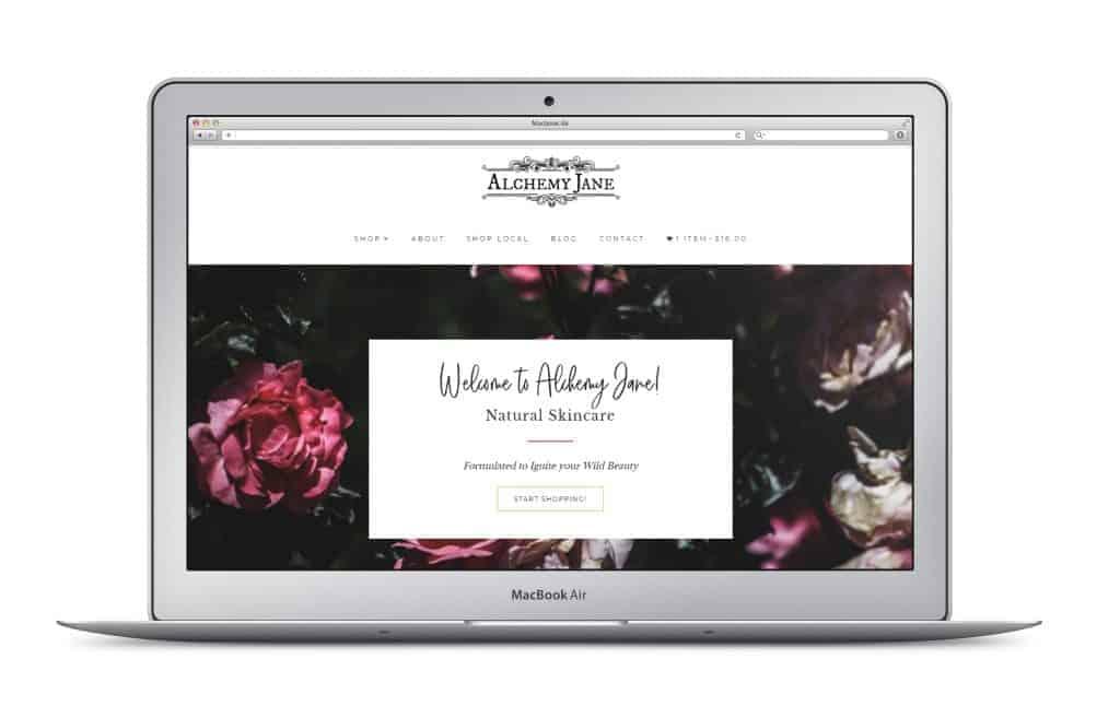 laptop mockup of website