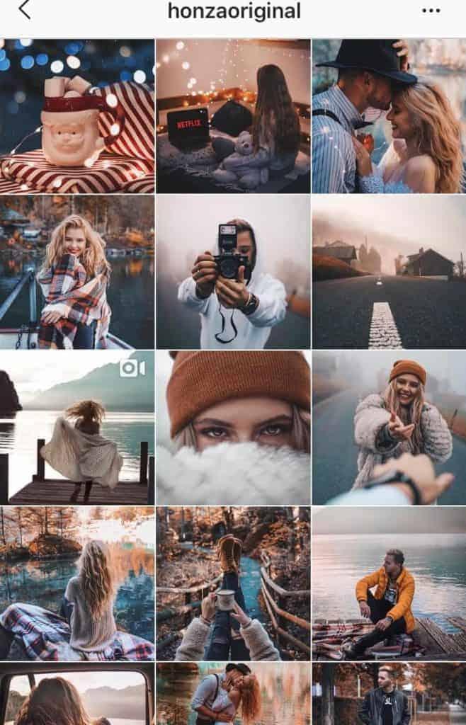 Screenshot of an Instagram feed