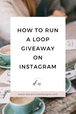 Image with text overlay that says: how to run a loop giveaway on instagram