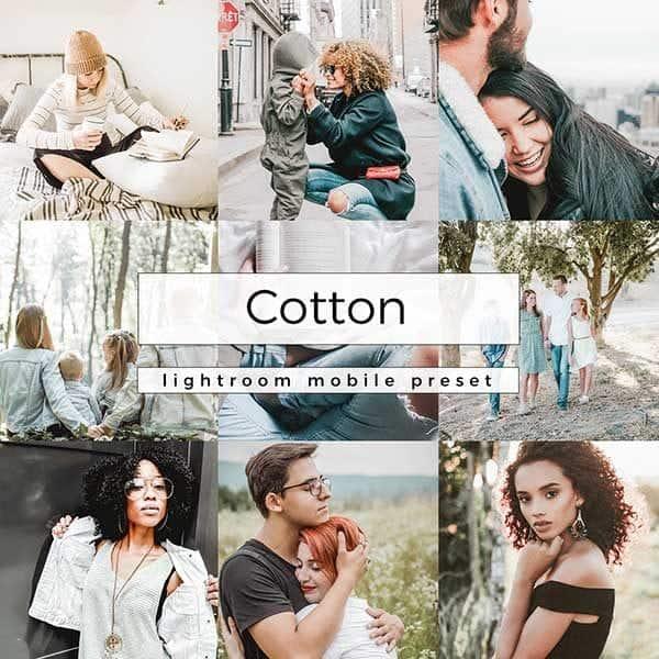 Lightroom Mobile Preset Cotton
