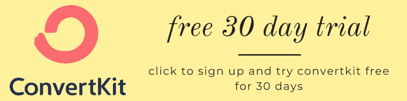 "A graphic that says ""free 30 day trial for ConvertKit"""