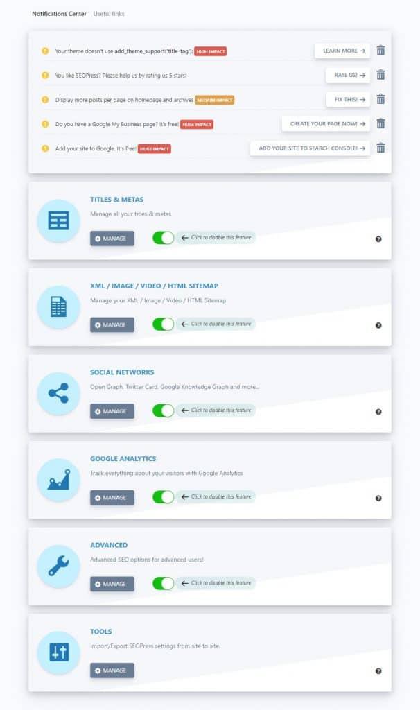 Screenshot of SEO editor interface