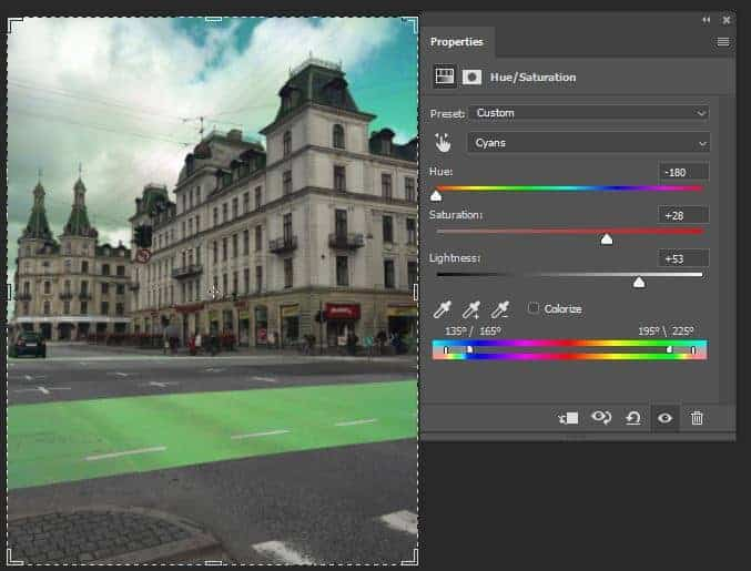 Photoshop editing software interface