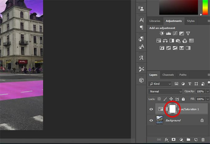 Photoshop editing interface