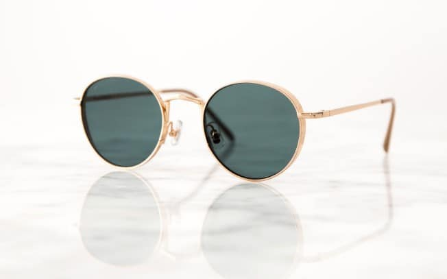 Sunglasses on a marble surface
