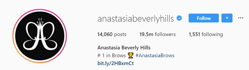 Instagram bio with emojis