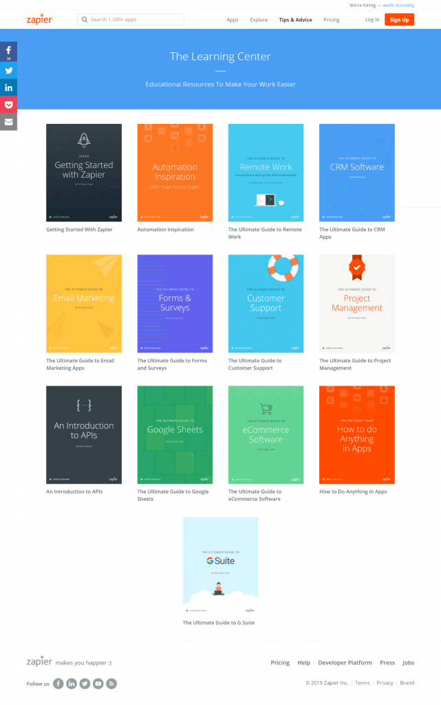 Screenshot of 13 ebook covers