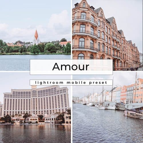 Photo grid with text overlay for Instagram presets