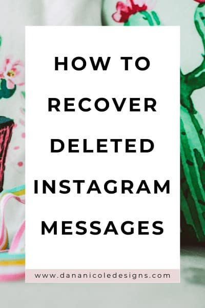 image with text overlay: how to recover deleted instagram messages