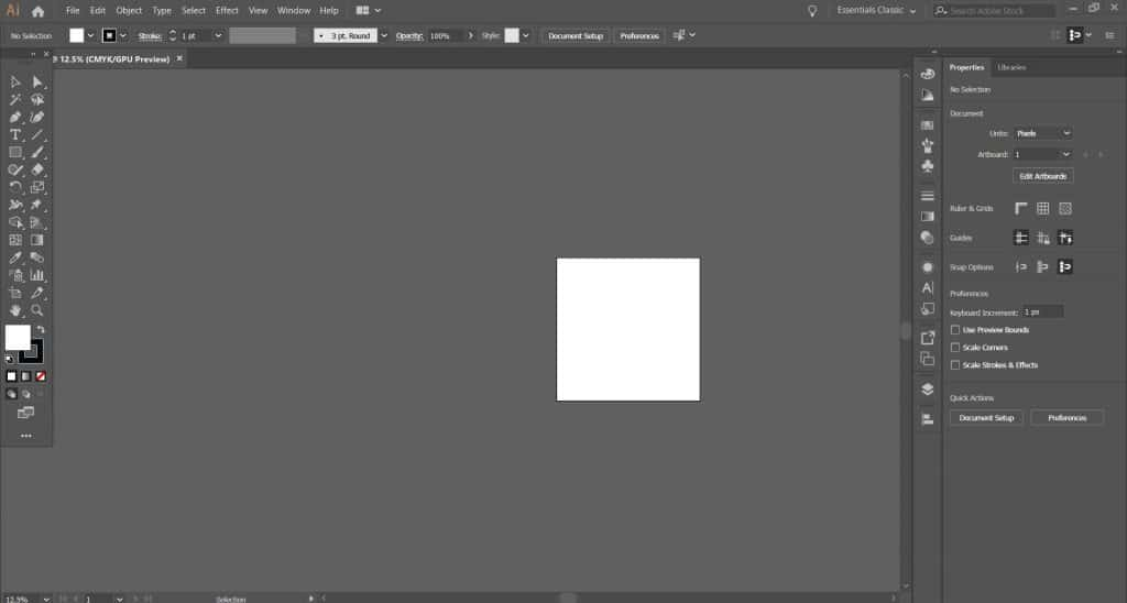 A screenshot of Adobe Illustrator's interface