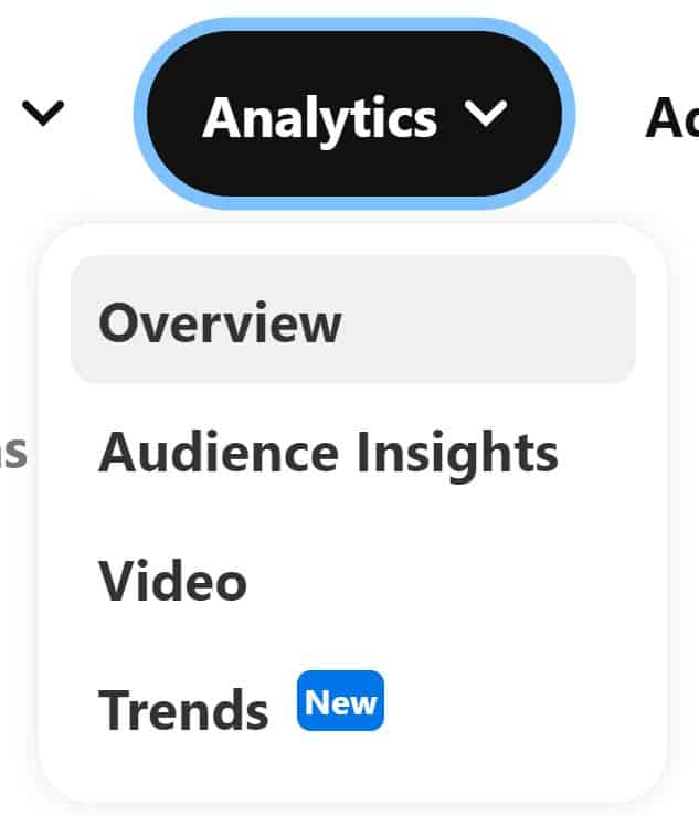 A screenshot of Pinterest analytics