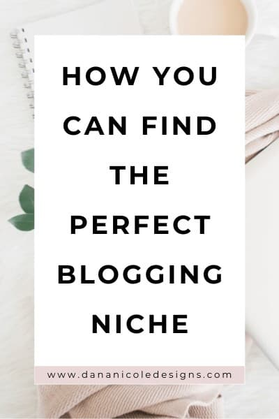 image with text overlay: how you can find the perfect blogging niche.